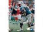 Earl Campbell Autographed Houston Oilers 8x10 Photo Color (HOF) JSA