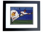 Carlos Baerga Signed - Autographed Cleveland Indians 8x10 inch Photo BLACK CUSTOM FRAME - Guaranteed to pass PSA or JSA