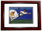 Carlos Baerga Signed - Autographed Cleveland Indians 8x10 inch Photo MAHOGANY CUSTOM FRAME - Guaranteed to pass PSA or JSA