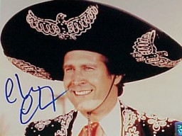 CHEVY CHASE SIGNED 16 X 20 PHOTO (3 AMIGOS)