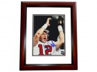 Chris Chandler Signed - Autographed Atlanta Falcons 8x10 Photo MAHOGANY CUSTOM FRAME - NFC Champions