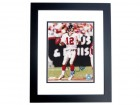 Chris Chandler Signed - Autographed Atlanta Falcons 8x10 Photo BLACK CUSTOM FRAME - NFC Champions
