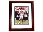 Chris Chandler Signed - Autographed Atlanta Falcons 8x10 inch Photo MAHOGANY CUSTOM FRAME - Guaranteed to pass PSA or JSA - NFC Champions