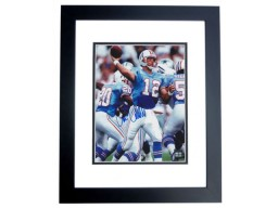 Chris Chandler Signed - Autographed Houston Oilers 8x10 inch Photo BLACK CUSTOM FRAME - Guaranteed to pass PSA or JSA