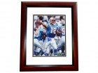 Chris Chandler Signed - Autographed Houston Oilers 8x10 inch Photo MAHOGANY CUSTOM FRAME - Guaranteed to pass PSA or JSA