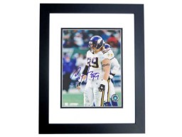 Chris Hovan Signed - Autographed Minnesota Vikings 8x10 inch Photo BLACK CUSTOM FRAME - Guaranteed to pass PSA or JSA