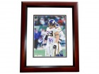 Chris Hovan Signed - Autographed Minnesota Vikings 8x10 inch Photo MAHOGANY CUSTOM FRAME - Guaranteed to pass PSA or JSA