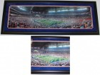 "Chris Leak AND Urban Meyer Dual Signed - Autographed Florida Gators National Championship 13x39 Panoramic Photo with ""2006 BCS MVP"" AND ""41-14"" inscriptions"
