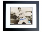 Cal McLish Signed - Autographed Brooklyn Dodgers 8x10 inch Photo BLACK CUSTOM FRAME - Guaranteed to pass PSA or JSA