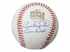 Chris  Coghlan Signed Rawlings Official 2016 World Series Baseball w/Curse Reversed