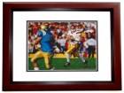 Carson Palmer Signed - Autographed USC Trojans 8x10 inch Photo MAHOGANY CUSTOM FRAME - Guaranteed to pass PSA or JSA