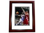 Chris Paul Signed - Autographed TEAM USA 8x10 inch Photo MAHOGANY CUSTOM FRAME - Guaranteed to pass PSA or JSA - Houston Rockets CP3