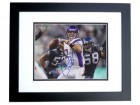 Christian Ponder Signed - Autographed Minnesota Vikings 8x10 inch Photo BLACK CUSTOM FRAME - Guaranteed to pass PSA or JSA