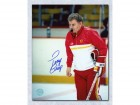 Terry Crisp Calgary Flames Signed 8X10 Photo Coach Photo