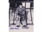 Chuck Rayner Signed - Autographed New York Rangers 8x10 Photo - Hall of Famer