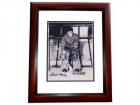 Chuck Rayner Signed - Autographed New York Rangers 8x10 inch Photo MAHOGANY CUSTOM FRAME - Guaranteed to pass PSA or JSA - Hall of Famer
