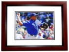 Carlos Zambrano Signed - Autographed Chicago Cubs 8x10 inch Photo MAHOGANY CUSTOM FRAME - Guaranteed to pass PSA or JSA
