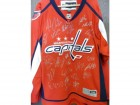 Washington Capitals (2013-14) Signed Replica Size XL Washington Capitals Jersey by the 2013-14 Team signed by: Julien Brouillette, Dustin Penner, Karl Alrner, Jay Beagle, Dmitry Orlov, Steven Olesky, Alex Ovenchkin, Connor Carrick, John Erskine, Aaron Vol