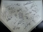 St. Louis Cardinals (2004) Signed Full Size Replica Home Plate by the 2004 St. Louis Cardinals Team (24 Signatures in All - Dan Haren, Jason Isringhausen, Matt Morris, Julian Tavarez, Mike Matheny, Yadier Molina, Marlon Anderson, Albert Pujols, Edgar Rent