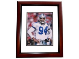Charles Haley Signed - Autographed Dallas Cowboys 8x10 inch Photo MAHOGANY CUSTOM FRAME - Guaranteed to pass PSA or JSA