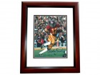Charles White Autographed USC 8x10 Photo MAHOGANY CUSTOM FRAME - 1979 Heisman Trophy Winner