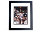 Charlie Ward Autographed New York Knicks 8x10 Photo BLACK CUSTOM FRAME