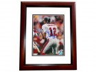 Chris Chandler Signed - Autographed Atlanta Falcons 8x10 inch Photo MAHOGANY CUSTOM FRAME - Guaranteed to pass PSA or JSA - Super Bowl XXXIII