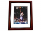 Chris Childs Signed - Autographed New York Knicks 8x10 inch Photo MAHOGANY CUSTOM FRAME - Guaranteed to pass PSA or JSA