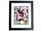 Clinton Portis Autographed Denver Broncos 8x10 Photo BLACK CUSTOM FRAME
