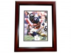 Clinton Portis Autographed Denver Broncos 8x10 Photo MAHOGANY CUSTOM FRAME