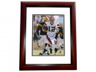 Colt McCoy Autographed Cleveland Browns 8x10 Photo MAHOGANY CUSTOM FRAME