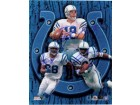 Indianapolis Colts Signed 8x10 By Peyton Manning, Marvin Harrison and Edgerrin James