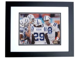 Super Bowl XLI Unsigned Indianapolis Colts 8x10 inch Photo BLACK CUSTOM FRAME - Peyton Manning