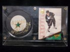 Russ Courtnall (Dallas Stars) Signed Dallas Stars Puck with Hockey Card & Case