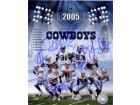 Dallas Cowboys (2005) Signed 8x10 By Julius Jones, Roy WIlliams, La'Roi Glover, Larry Allen, Jason Witten, Demarus Ware, Drew Bledsoe, Terry Glenn and Keyshawn Johnson
