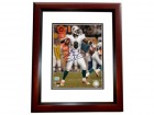 Daunte Culpepper Signed - Autographed Miami Dolphins 8x10 Action Photo MAHOGANY CUSTOM FRAME - Guaranteed to pass PSA or JSA (white jersey)