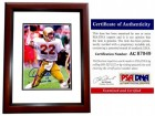 Doug Flutie Signed - Autographed Boston College Eagles 8x10 inch Photo MAHOGANY CUSTOM FRAME - 1984 Heisman Trophy Inscription - PSA/DNA Certificate of Authenticity (COA)