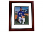 Doc Gooden Signed - Autographed New York Mets 8x10 Photo MAHOGANY CUSTOM FRAME with 1986 WORLD SERIES CHAMPS Inscription