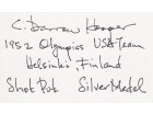 Darrow Hooper Signed - Autographed Olympic 3x5 Inch Index Card - Guaranteed to pass PSA or JSA with Inscriptions - 1952 Silver Olympic Medalist