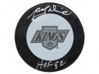Marcel Dionne Signed Los Angeles Kings 1980's Style Logo Hockey Puck w/HOF'92