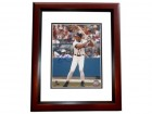 David Justice - Dave Justice Signed - Autographed Atlanta Braves 8x10 inch Photo MAHOGANY CUSTOM FRAME - Guaranteed to pass PSA or JSA