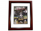 Dave Justice Signed - Autographed Beckett Magazine Cover MAHOGANY CUSTOM FRAME