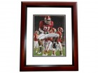 Dre Kirkpatrick Signed - Autographed Alabama Crimson Tide 8x10 inch Photo MAHOGANY CUSTOM FRAME - Guaranteed to pass PSA or JSA