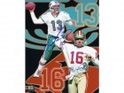 Dan Marino and Joe Montana DUAL Signed - Autographed 8x10 inch Photo - Guaranteed to pass PSA or JSA - Miami Dolphins - San Francisco 49ers