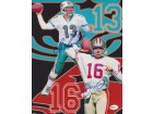 Dan Marino and Joe Montana DUAL Signed - Autographed 8x10 inch Photo - Online Authentics Authenticated - Guaranteed to pass PSA or JSA