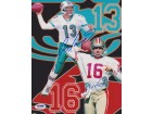 Dan Marino and Joe Montana DUAL Signed - Autographed 8x10 inch Photo - PSA/DNA Certificate of Authenticity (COA)