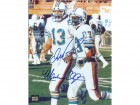 Dan Marino and Mark Clayton DUAL Signed - Autographed Miami Dolphins 8x10 inch Photo - Guaranteed to pass PSA or JSA