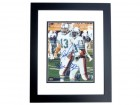 Dan Marino and Mark Clayton DUAL Autographed Miami Dolphins 8x10 Photo BLACK CUSTOM FRAME