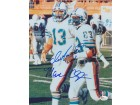 Dan Marino and Mark Clayton DUAL Signed - Autographed Miami Dolphins 8x10 inch Photo - Online Authentics Authenticated - Guaranteed to pass PSA or JSA