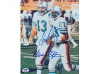 Dan Marino and Mark Clayton DUAL Signed - Autographed Miami Dolphins 8x10 inch Photo - PSA/DNA Certificate of Authenticity (COA)
